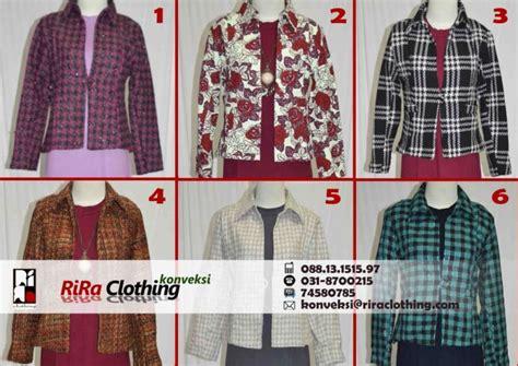 Jahit Blazer Wanita blazer trendy rira clothing konveksi
