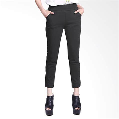 Celana Bahan Lentur jual celana scuba wanita black harga kualitas terjamin blibli