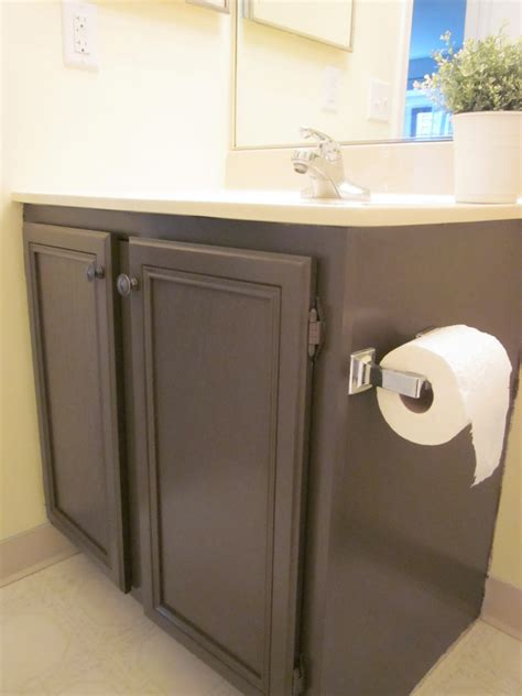 brown painted bathroom cabinets how to paint bathroom cabinets dark brown mf cabinets