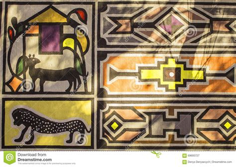 african tribal house music african tribal traditional house ornament pattern stock