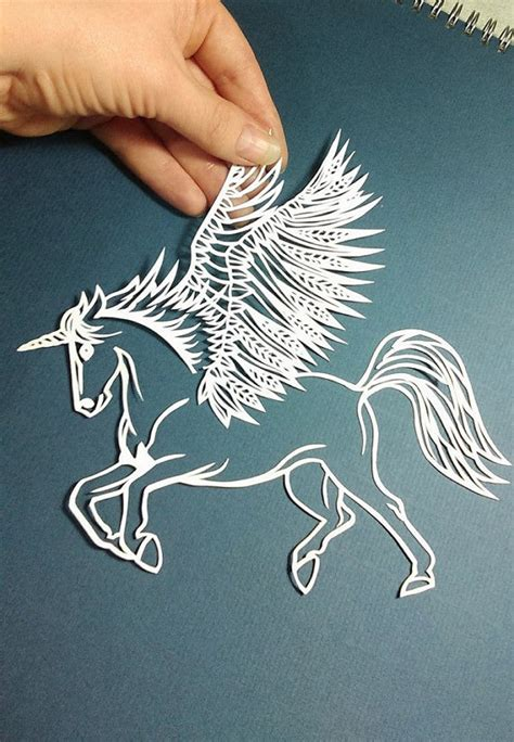 Craft Paper Cutting Designs Find - unicorn winged pegasus papercut template pdf