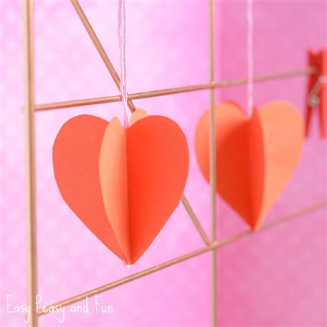 Paper Craft Hearts - 3d paper craft easy peasy and