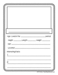 dinosaur trading card template this worksheet is a research template for a dinosaur the