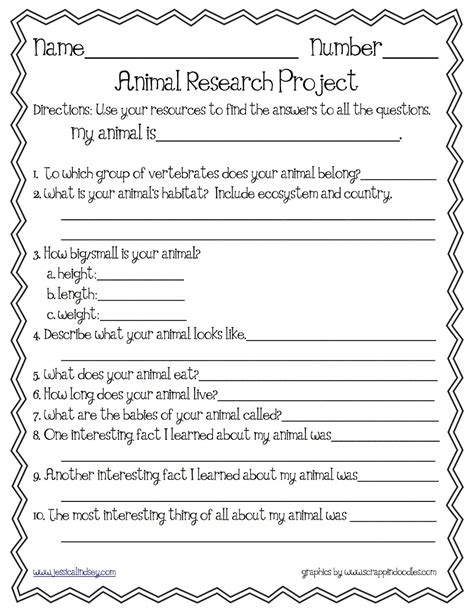 free printable animal report animal research template pinteres