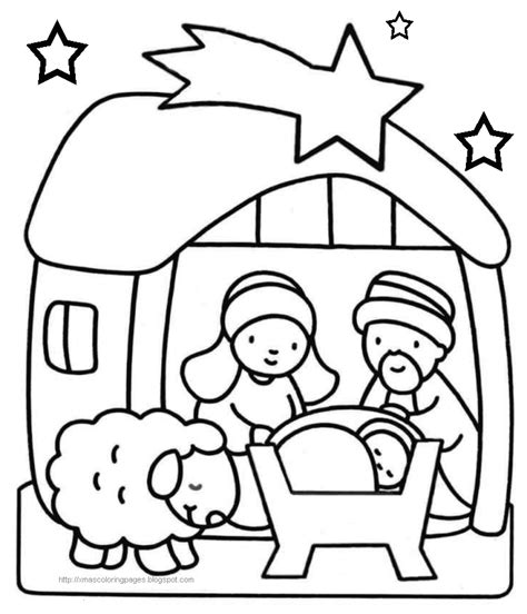 jesus is born nativity coloring page jesus is born nativity coloring page