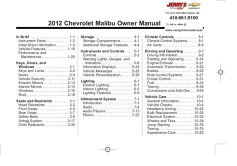 Chevy Malibu Owner Manual Full Version Free Software