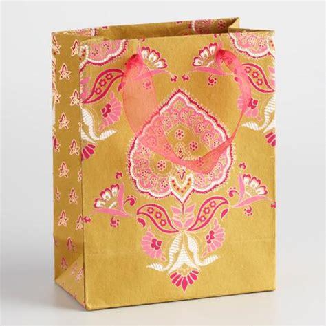 Handmade Paper Gift Bags - small green priti handmade paper gift bags set of 2