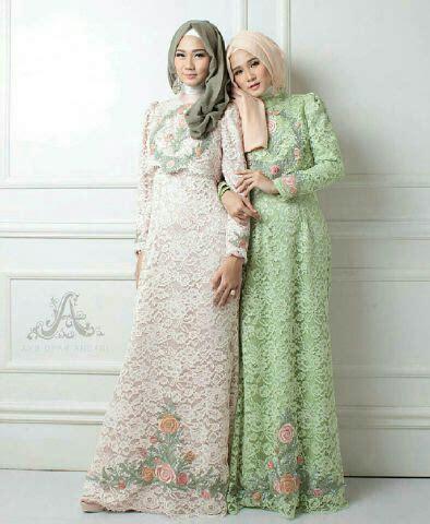 model dress broklat model baju gamis brukat brokat terbaru setelan hijab modis