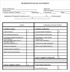 company financial statement template sle financial summary template 7 free documents in pdf