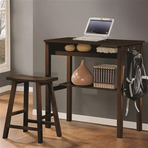 Bar Height Computer Desk Bar Height Computer Desk Counter Height Wood Desk Stool In Espresso Finish Coaster Minimal