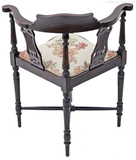 chair in bedroom corner edwardian inlaid mahogany corner chair bedroom antiques
