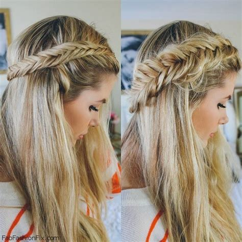 easy hairstyles with box fishtales pulled apart dutch fishtail braid hairstyle tutorial fab