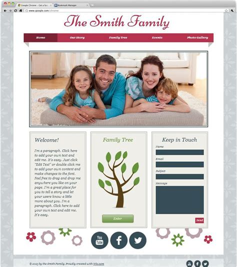 An Easily Customizable Website Template Helps You Take Family Genealogy Website Templates