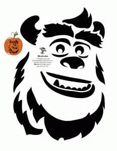 Sully Pumpkin Template by Pumpkin Stencils Disney Pumpkin Carving Patterns Woo