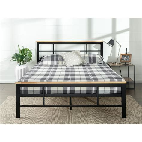 wood twin platform bed zinus urban metal and wood black twin platform bed frame