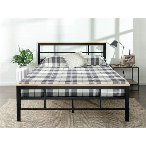 zinus urban metal and wood black twin platform bed frame