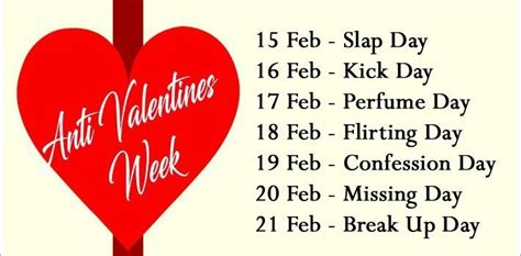new happy valentines day sms anti valentines week list 2018 days dates days names