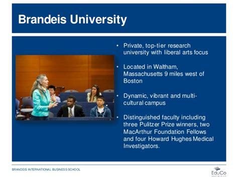 Brandeis Mba Program Ranking by Brandeis International Business School Presentation