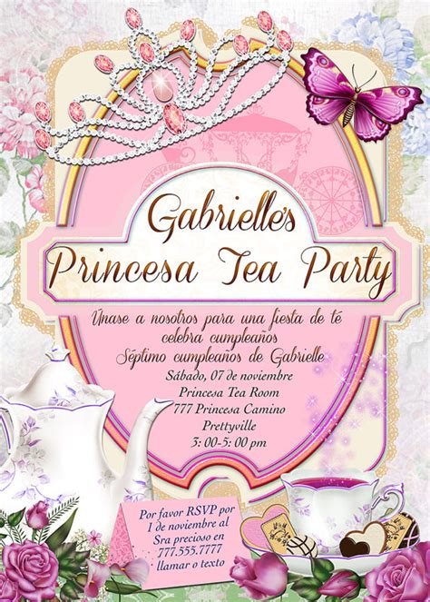 invitaci n de bautizo de princesa para imprimir invitaciones de la princesa cumplea 241 os de las muchachas