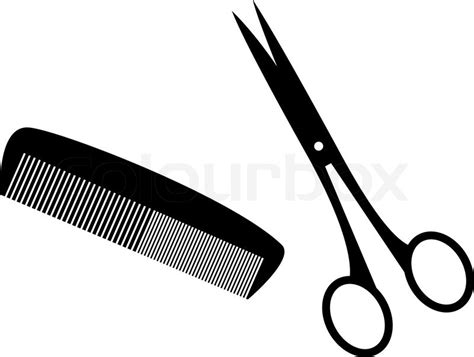 Hairstyles Tools Vector by Black Silhouettes Of Hairstyle Tools Stock Vector