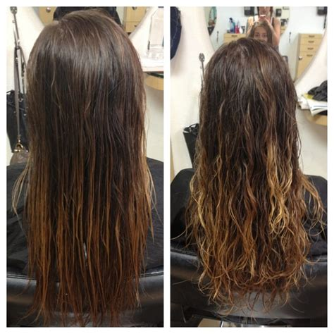 before and after photos of permant waves with frizzy hair wavy perm quotes