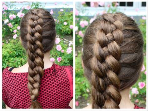 dutch 4 strand braid tutorial hairandnailsinspiration