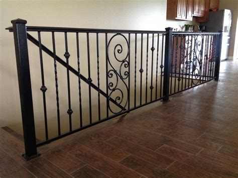 Rod Iron Banister Interior Wrought Iron Railings Stairs