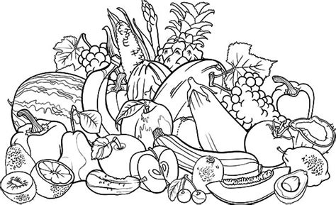 Vegetables Free Colouring Pages Fruits And Vegetables Coloring Page