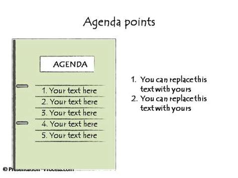 powerpoint hand drawn graphics agenda bulleted lists