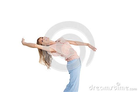 background x position elegant woman in dance classic position royalty free stock