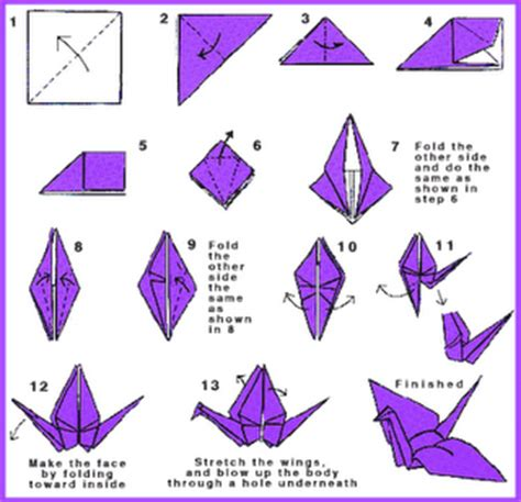 Make A Paper Bird - simple make a bird origami with a paper sweet souvenir
