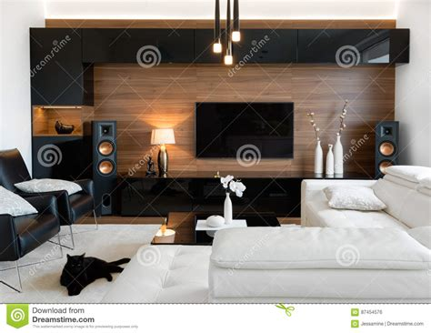 living room stereo modern living room with stereo speakers stock photo image of high modern 87454576