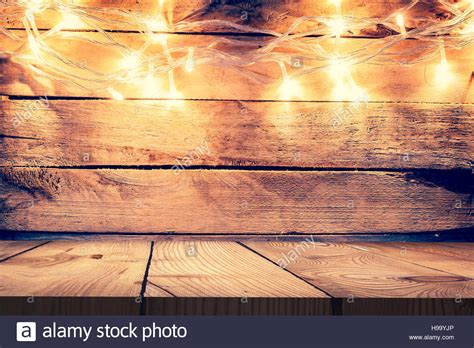 light wood table top light on wooden background and wooden table