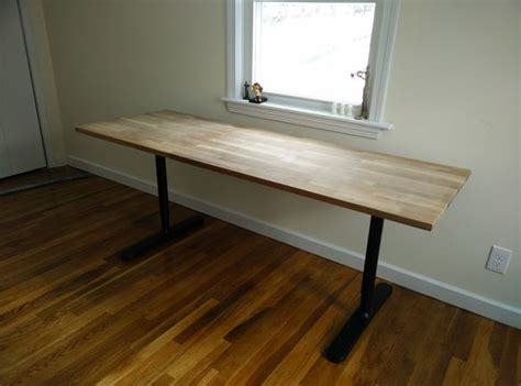 Ikea Table Top Hack Butcher Block Countertop Table Ikea Hack