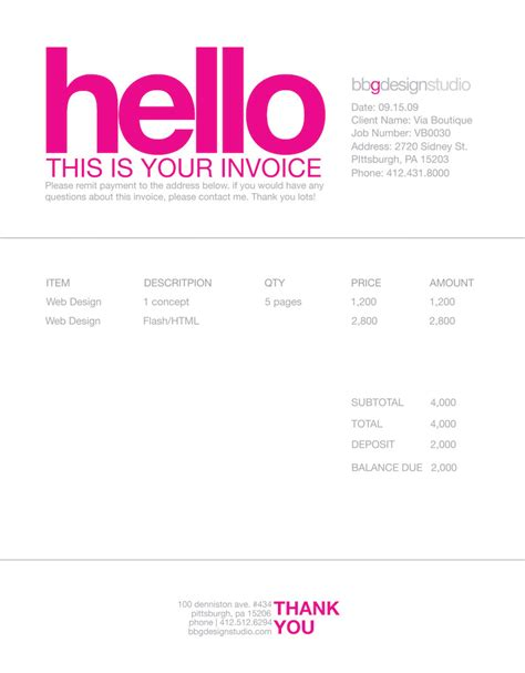 interest invoice template and graphic design freelance invoice