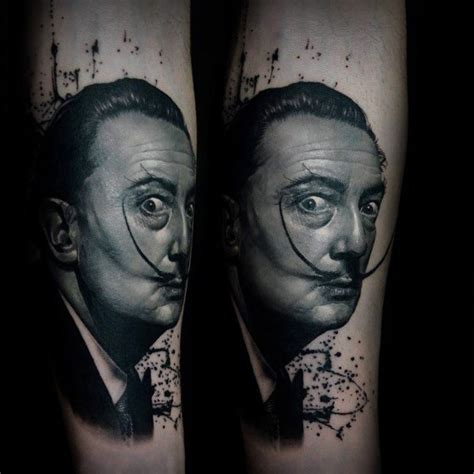 50 salvador dali tattoo designs for men artistic ink ideas