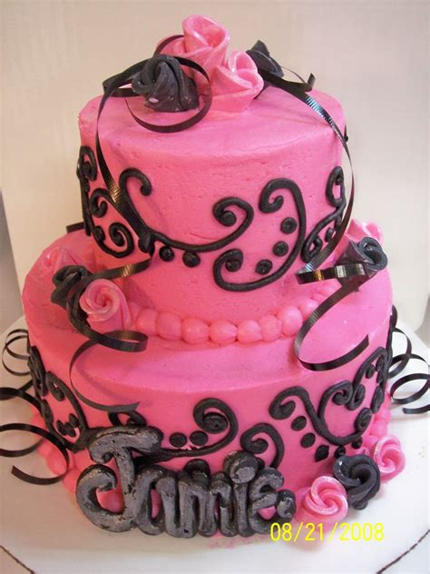 black and pink birthday cake pink and black wedding cakes reference for wedding