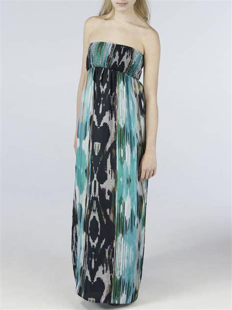 Bright Coloured Maxi Dresses - strapless silk dress