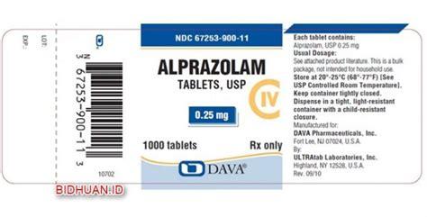 obat alprazolam kegunaan dosis efek sing dan harga