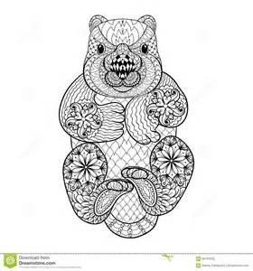 secret garden coloring book australia tribal wombat animal totem for coloring
