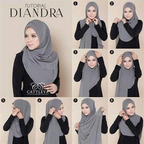 tutorial hijab pashmina simple terkini dengan mudah 34 tutorial mudah pemakaian tudung shawl dan selendang