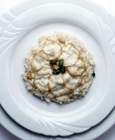 osteria co dei fiori risotto with smoked provola cheese pistachio and walnut