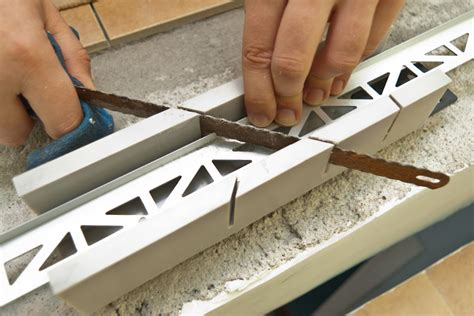 cutting tile backsplash installing tile edging howtospecialist how to build
