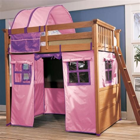 loft bed tent lea furniture my place twin over twin bunk bed with tent
