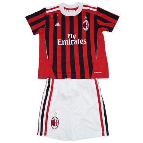 Baby Jumper Ac Milan adidas ac milan baby kit home set minikit trikot hose mailand schwarz rot ebay