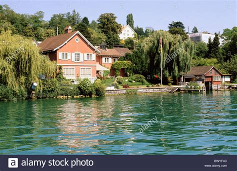 houses to buy in switzerland gold coast house home houses homes canton zurich meilen switzerland stock photo