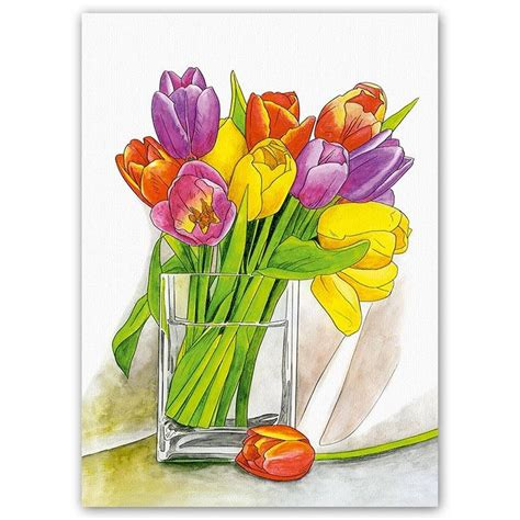 watercolour painting by number tulpen aquarell schipper from craftyarts co uk uk