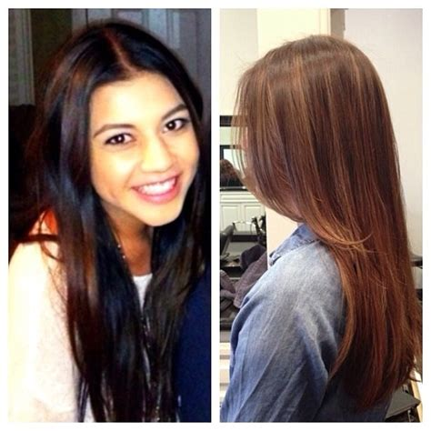 how to go from black to brown hair took her from black patchy hair color to beautiful brown