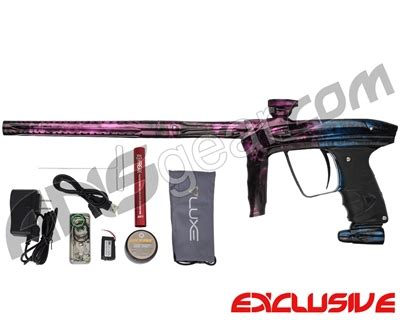 dlx luxe 2.0 oled paintball gun polished acid wash pink