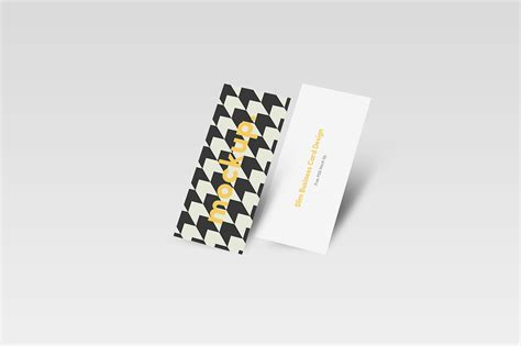 Slim Business Card Template by Slim Business Card Mock Up Free On Behance